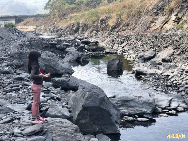 因為長期的復育,讓三合溪成為六龜地區一處生態豐富的溪流。(記者許麗娟攝)