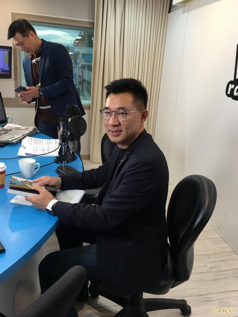國民黨立委江啟臣認為,國民黨最有本錢談「反共」。(記者林良昇攝)
