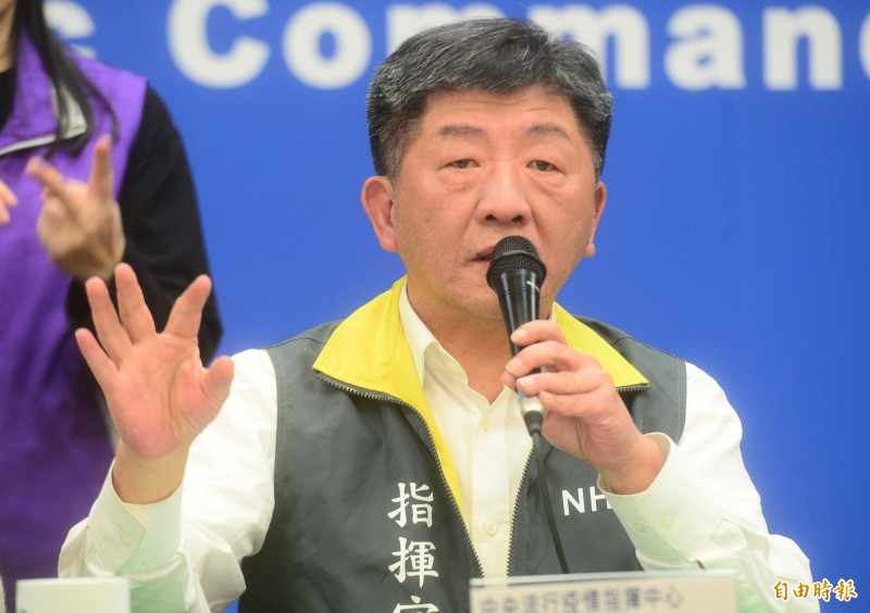 中央流行疫情指揮中心指揮官陳時中說,包機返台入境247人,除了1例確診,其餘經採檢均呈陰性。(記者王藝菘攝)