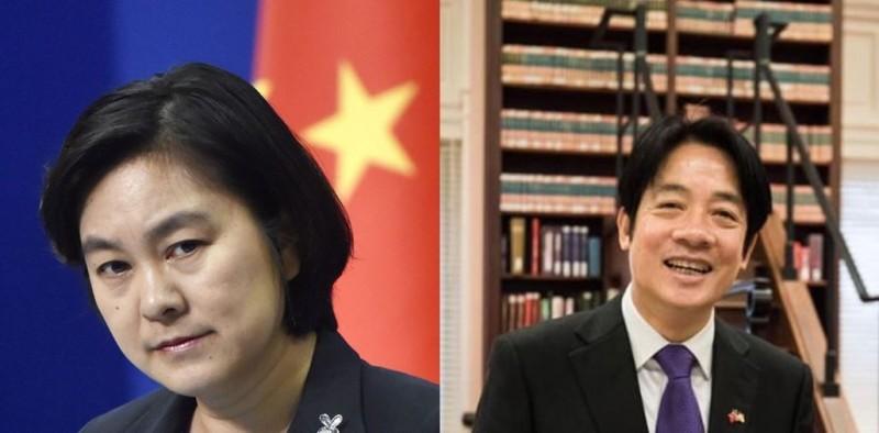賴清德(右)訪美令中國不滿,華春瑩(左)要求美方禁止與賴有任何形式的官方接觸。(左圖美聯社,右圖取自賴清德臉書)