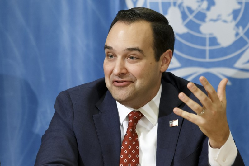 美國駐聯合國大使布朗堡格(Andrew Bremberg)今(6)日鄭重呼籲世界衛生組織(WHO),應直接與台灣公衛機關合作防疫,以對抗快速變種的冠狀病毒。(歐新社)