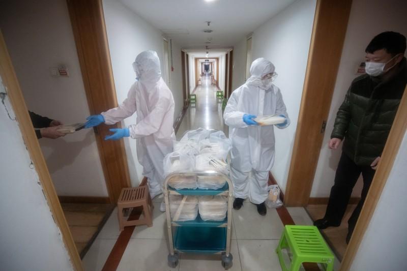 中國境內因防疫物資匱乏發生爭議。示意圖。(歐新社)
