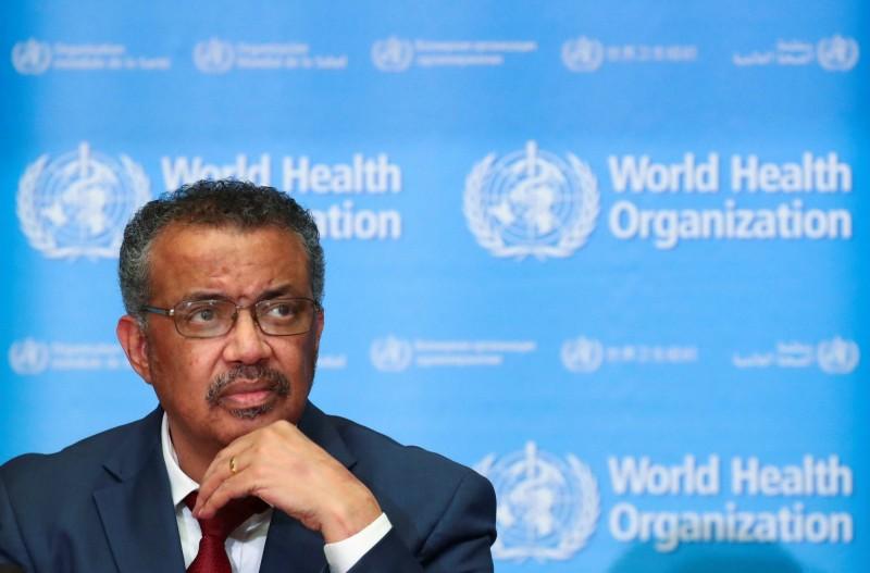 世界衛生組織秘書長譚德塞今天警告,全世界因應武漢肺炎疫情的口罩與防護裝備數量告急。(路透)