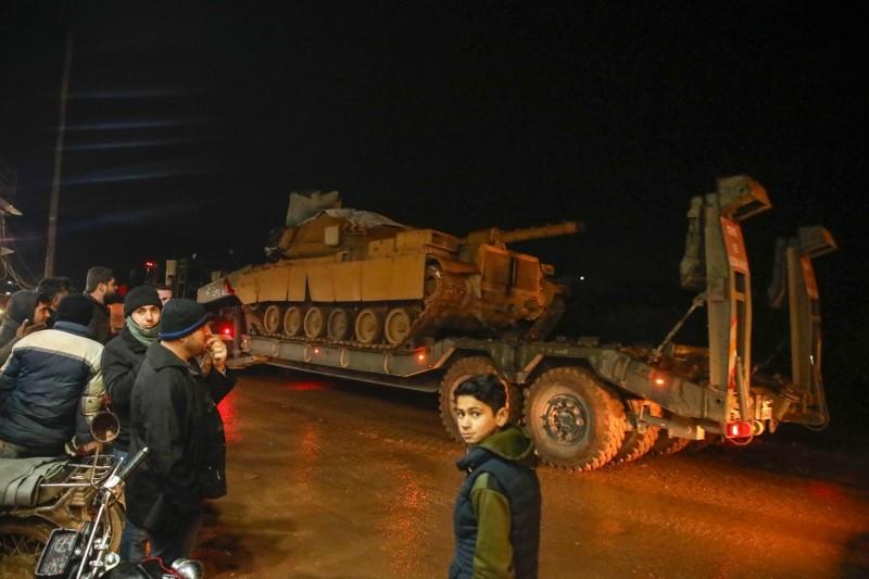 土敘衝突升溫,土耳其已向敘利亞伊德利卜省(Idlib)增兵,以應對敘利亞政府軍的進攻。(法新社)