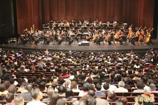 國立臺灣交響樂團(NTSO)去年與上銀科技合作「科技與藝術的對話」音樂會,但演出內容著重機械手臂的展示、宣揚廠商經營理念,歌劇院指其違規決議裁罰10萬元並禁止申請場地半年。(資料照)