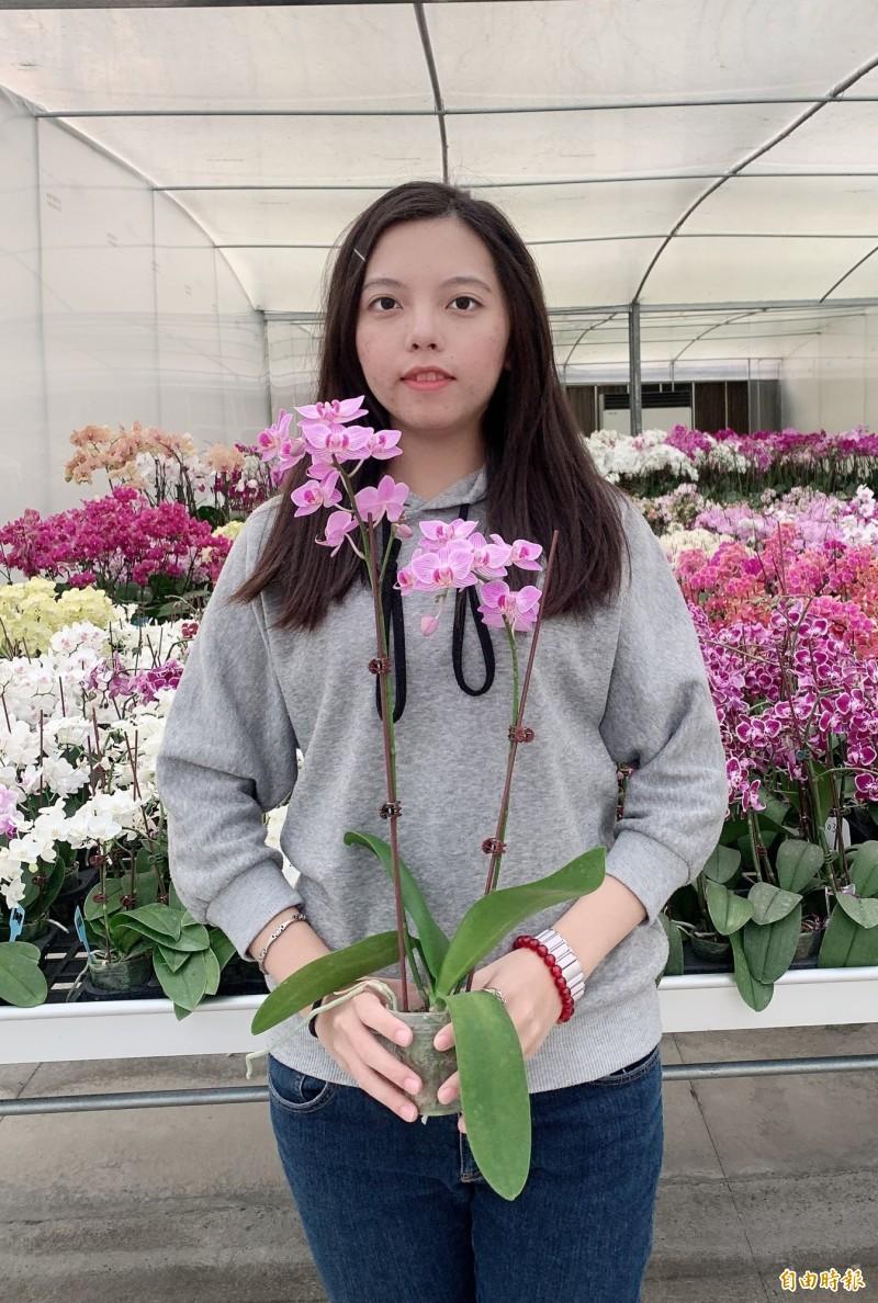 2020台灣國際蘭展推出「住台南送蘭花」專屬方案。(記者楊金城攝)
