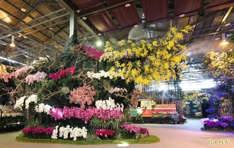 2020台灣國際蘭展將於3月7日至16日在台南後壁區台灣蘭花生物科技園區開展。圖為去年蘭展。(記者楊金城攝)