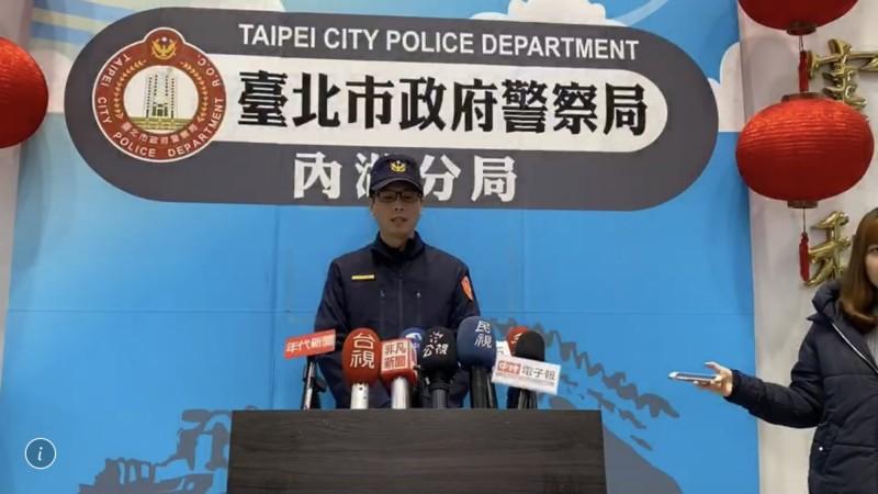 內湖警分局副分局長郭大恆受訪。(記者鄭景議翻攝)