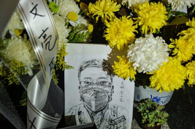 李文亮醫師在2月7日凌晨傳出死訊後,掀起中國民間追求言論自由的浪潮。(法新社)