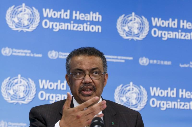 世衛組織(WHO)秘書長譚德塞(Tedros Adhanom Ghebreyesus)10日警告,中國以外的全球確診病例恐只是「冰山一角」。(歐新社)
