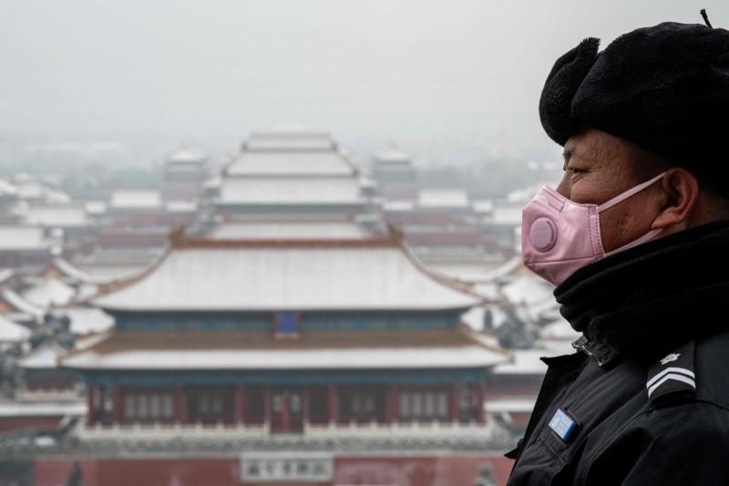 由於武漢肺炎疫情延燒,北京今宣告封城。(法新社)