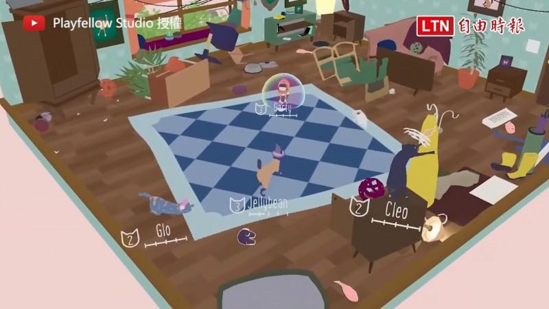 完美還原貓咪打架順便拆屋的狀況(圖片由Youtube帳號Playfellow Studio授權提供使用)