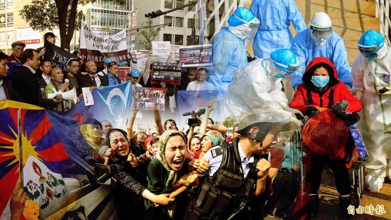 武漢肺炎疫情失控,中國各省民怨四起,甚至還有多名民運人士發起「武漢獨立、湖北獨立運動」。(歐新社、法新社、本報資料照)