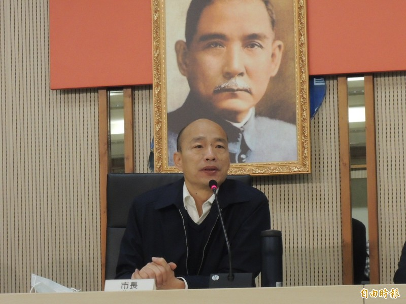 高雄市政府11日提出「飛躍一百、滿天星計畫」,韓國瑜稱此可增進公務員、學生4種能力。(資料照)