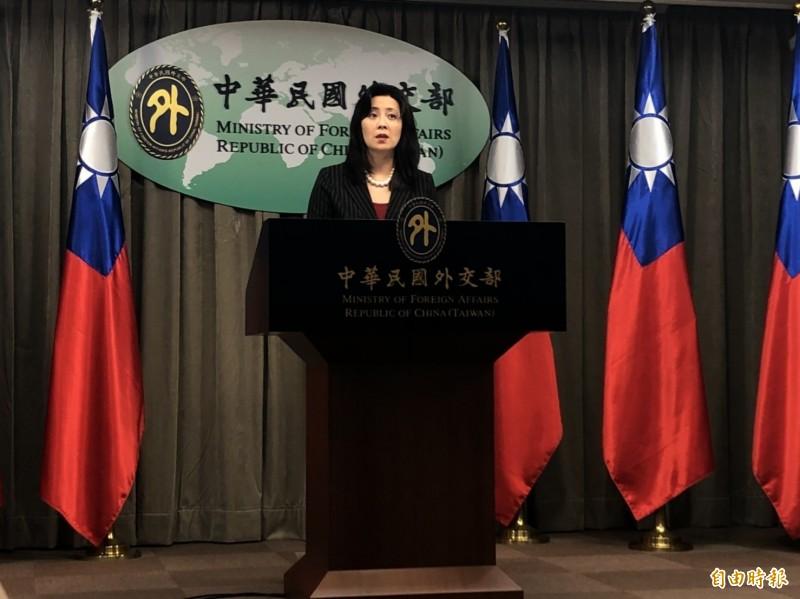 外交部發言人歐江安出席例會。(資料照,記者呂伊萱攝)