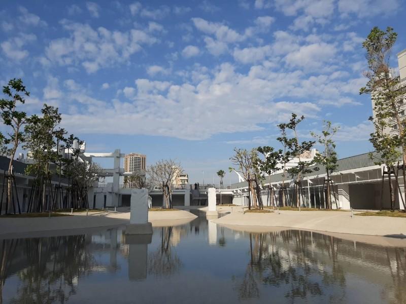 南市「河樂廣場 The Spring」,將於3月7日啓用亮相。(南市都發局提供)