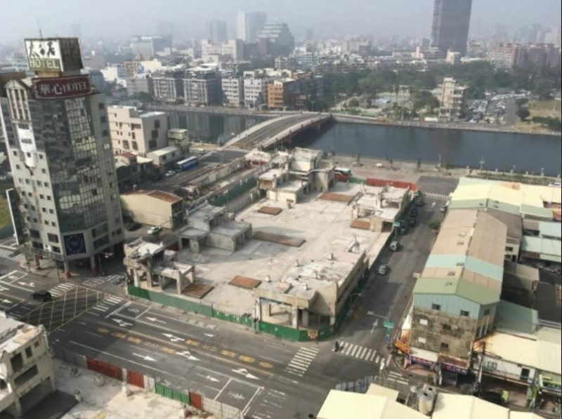 南市河樂廣場(原中國城基地)改造前景觀。(南市都發局提供)