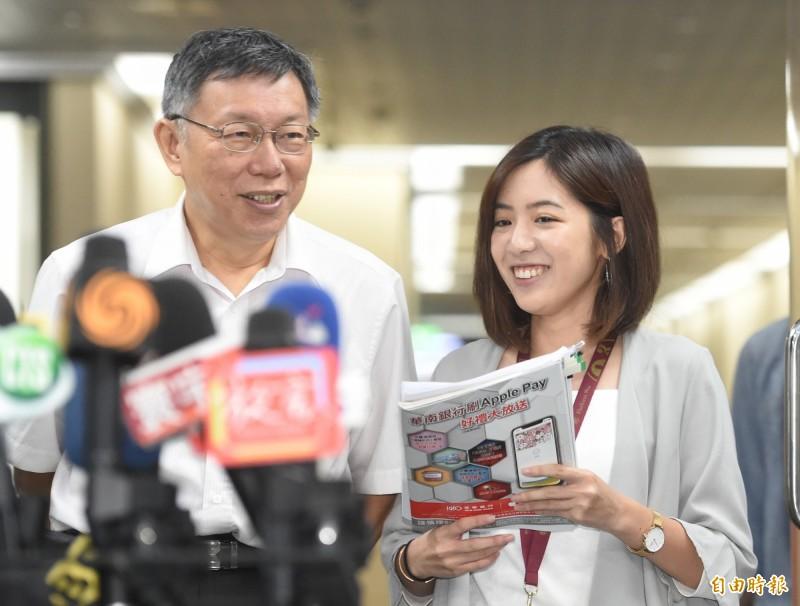 「學姊」黃瀞瑩她回鍋北市府。(資料照)