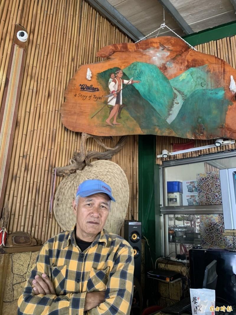 台中休閒露營區業者羅金國認為生意不受疫情影響。(記者唐在馨攝)