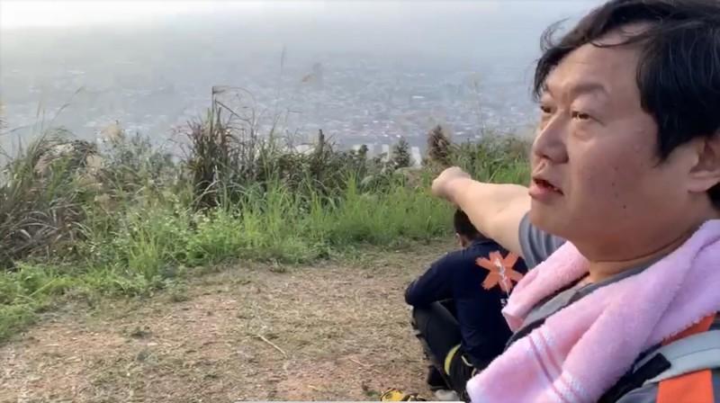 上山運動的民眾目擊日籍玩家墜落過程。(民眾提供)