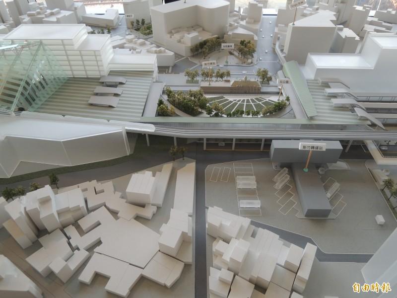 新竹市府推動的大車站計劃今天下午經行政院國發會審議通過,將報行政院通過。(記者洪美秀攝)