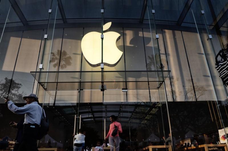 蘋果公司受最高法院裁定需支付員工在等待下班檢查時的薪水。(法新社)