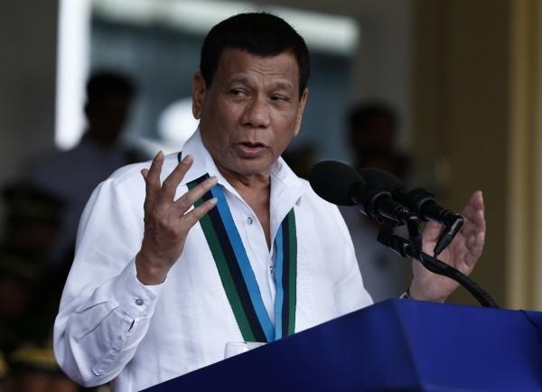 菲律賓總統杜特蒂。(歐新社)