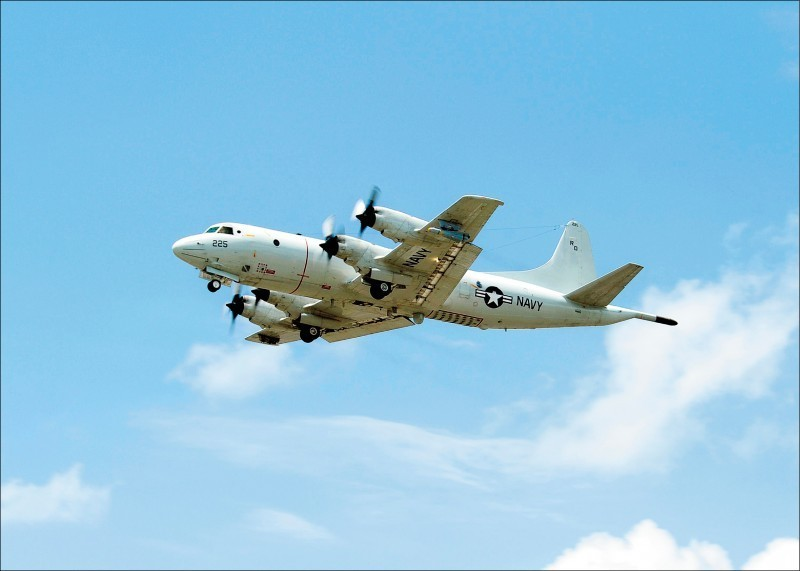 美國1架軍機昨(13)日被發現出現在鵝鑾鼻西西南方空域,國軍對此並未否認。(法新社檔案照)