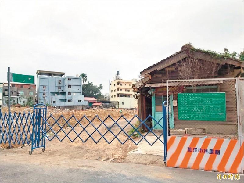 南投預計3月起調高公共工程拆遷補償費,圖為南投市藍田街市地重劃案。(記者張協昇攝)