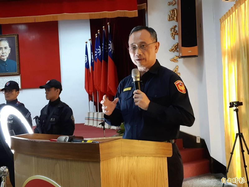 警政署長陳家欽今天說,逮獲南部最大毒梟後,北部最大毒梟也落網了。(記者黃明堂攝)