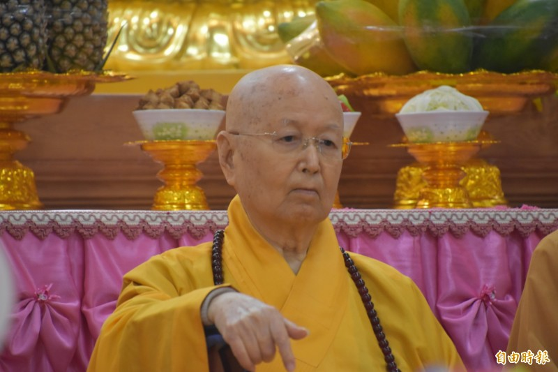 台灣佛教界一代宗師淨心長老今天下午圓寂,享耆壽91歲。(記者蘇福男攝)