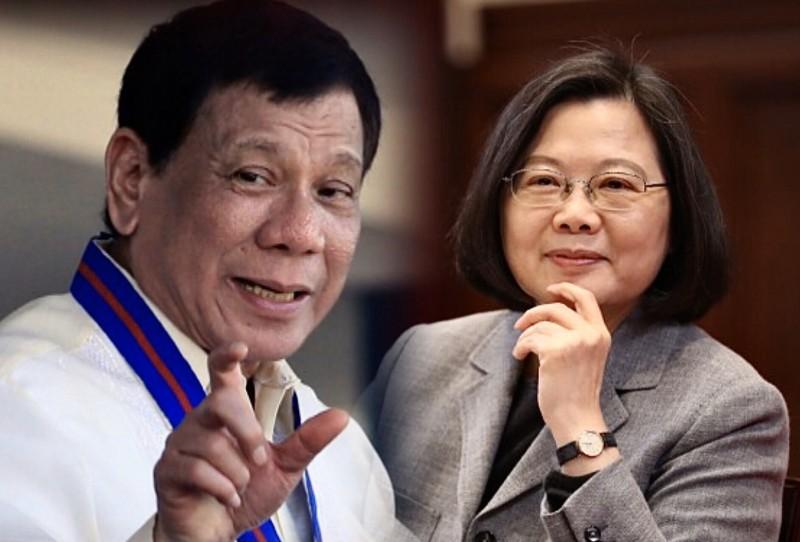 台灣總統蔡英文(右)、菲律賓總統杜特蒂(左)均有針對「禁台令」發表看法,菲方最後決定解除禁令。(本報合成)