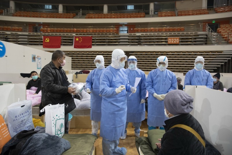 武漢肺炎疫情持續惡化,中國境內已有逾6萬人確診、1500起死亡病例。(歐新社)