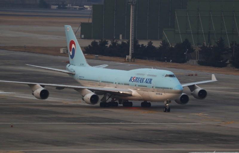 韓國首架中國武漢撤僑專機(圖)所載回的366人14天隔離期滿,所有人的病毒篩檢都是陰性,目前已經離開隔離場所。(歐新社)
