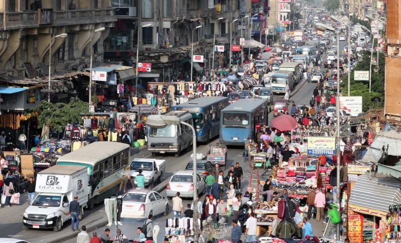 埃及通報發現首例武漢肺炎確診病例,也是非洲第一個病例,圖為埃及首都開羅繁忙的街景。(歐新社)