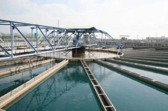 鯉魚潭淨水場淨水加藥處理情形。(台水公司提供)