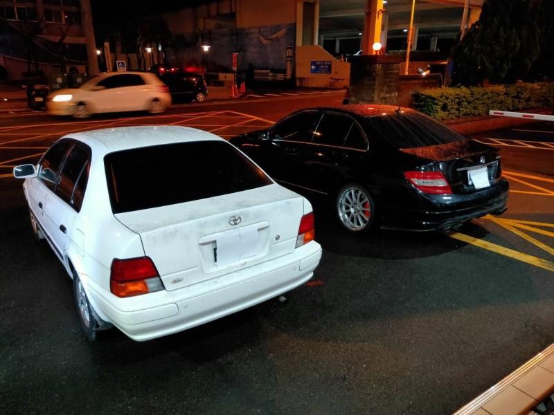 警方查扣犯案車輛。(記者魏瑾筠翻攝)
