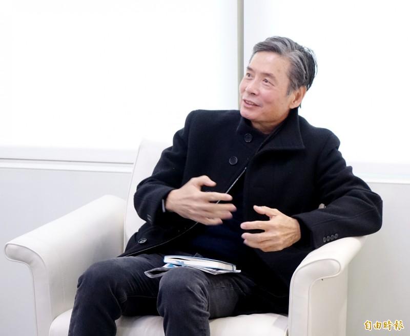 前國民黨秘書長金溥聰18日接受電台專訪,說明反對傅崐萁恢復黨籍理由。(記者朱沛雄攝)