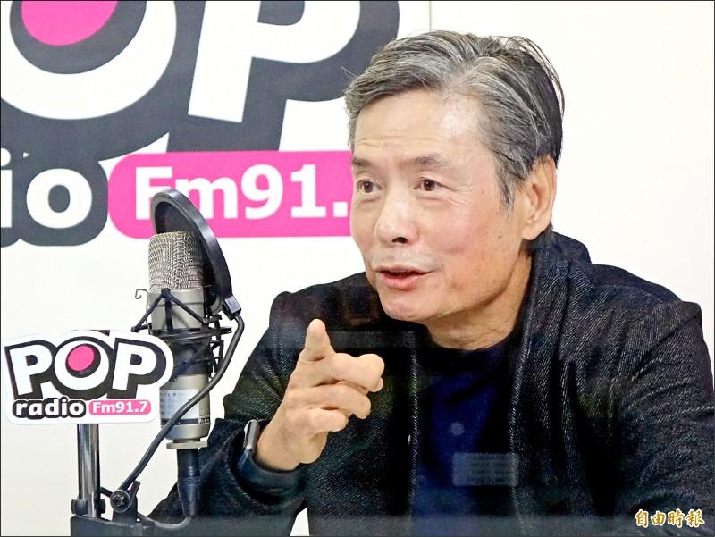 前國民黨秘書長金溥聰昨再批傅崐萁爭議多,如定時炸彈。(記者朱沛雄攝)。