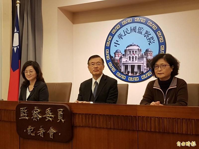 監委仉桂美(右起)、包宗和、林雅鋒。(記者謝君臨攝)