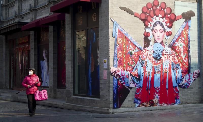 北京市大部分店面都還關閉。(美聯)