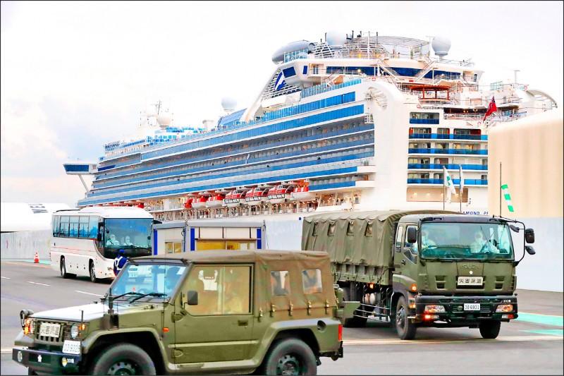 鑽石公主號上的台灣乘客昨日又有9人下船,統計台籍旅客已有14人下船,我國今日將派包機將國人接回台灣。(美聯社)