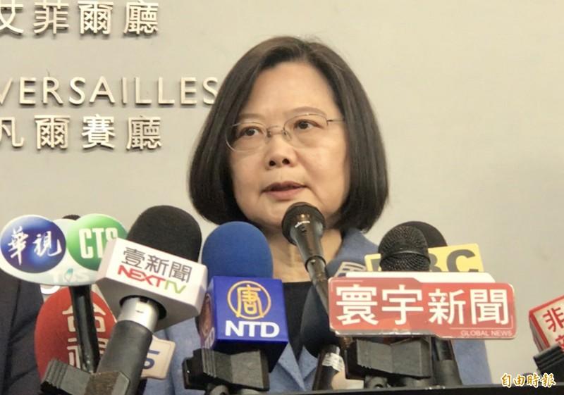 蔡總統表示,國衛院投入防疫很快會有進一步成果。 (資料照)