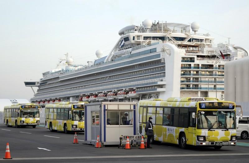 鑽石公主號19日起陸續放「陰性」乘客下船,但日本厚生勞動省22日坦承流程發生失誤。(歐新社)