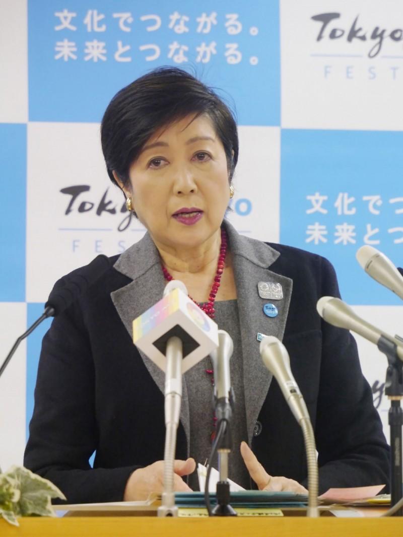 日本東京都知事小池百合子今天抨擊國倫敦市長候選人貝利(Shaun Bailey)的言論「不合適」。(法新社)
