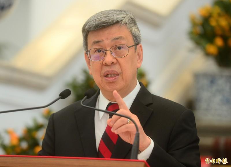 副總統陳建仁分享由台灣26家工具機廠商組成口罩「國家隊」背後的感人故事,並向無償出力的廠商致上最高的敬意和謝意。(資料照)