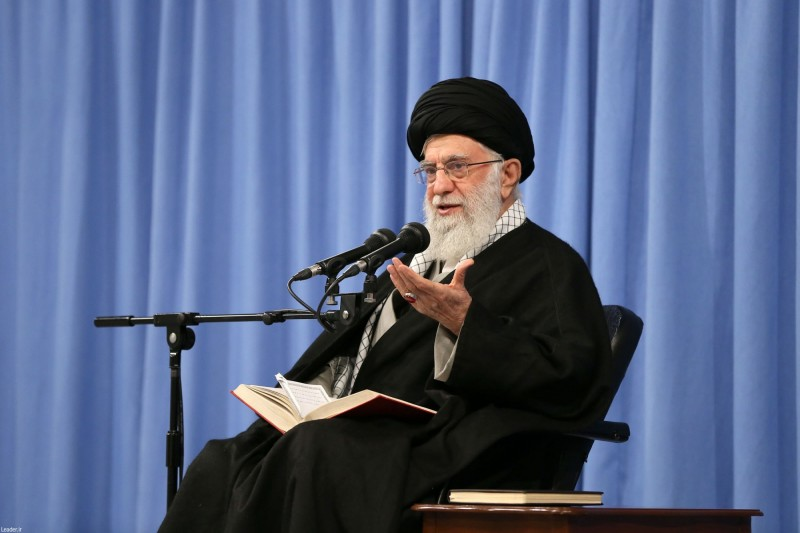 伊朗最高領袖哈米尼今(23)日指責外國媒體試圖利用致命的新型冠狀病毒「阻擾」伊朗選民投票。(法新社)