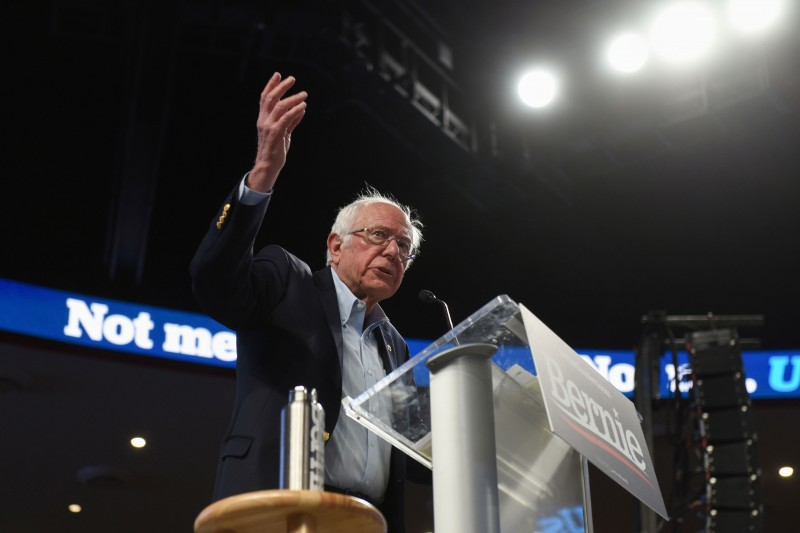 根據內華達州民主黨黨團會議的六十%計票結果,桑德斯以四十六%得票率領先,前副總統拜登(Joe Biden)以十九.六%居次,布塔朱吉僅獲得十五.三%。(路透資料照)
