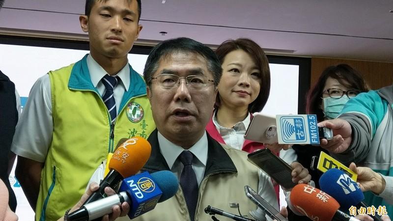 台南市長黃偉哲表示,對於粗暴對待幼童的托嬰中心人員絕對追究到底。(記者劉婉君攝)