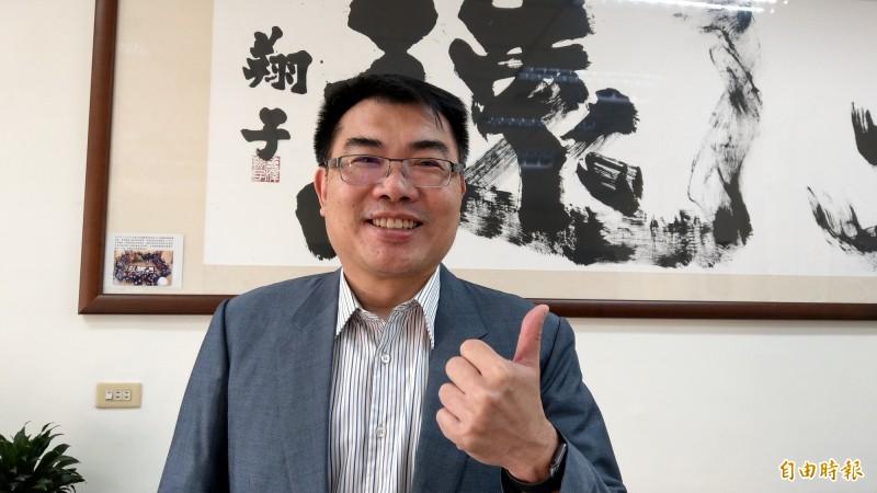 台南一中校長廖財固建議考生在選填志願時不要孤注一擲,可以採「2、3、1」的比例填寫。(記者劉婉君攝)